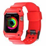 Venda de goma de la correa de reloj de TPU con el marco para la venda de reloj de Apple