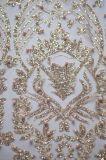 Lo stile operato all'ingrosso della fabbrica Shinny il tessuto dei Sequins ed in rilievo del ricamo del merletto