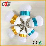 PBT LEDの球根LEDの照明とアルミニウムが付いている9W 12W 15W E27 2700K-6500K LEDの電球