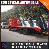 수송을%s 중국 6*4 낮은 평상형 트레일러 트럭