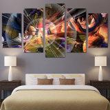 Segeltuch-Wand-Kunst stellt Rahmen-Hauptdekor-Raum-Plakat 5 Stücke Drache-KugelFightingHD gedruckte Anime-Zeichen-Anstreichendar