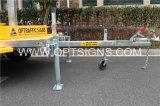 도로 소통량 태양 Vms 트롤리 제한 속도 표시, 트레일러는 LED 변하기 쉬운 메시지 표시를 거치했다