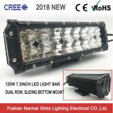 새로운 중대한 120W 7.3inch는 Offroad 표시등 막대 (GT3332-12L) 이중으로 한다 줄 크리 사람 LED