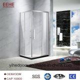 Pièce de douche simple avec les charnières en verre de pivot de porte de douche