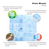 Het gesmolten Vierkante Kleurrijke Mozaïek van het Gebrandschilderd glas betegelt Blad voor Backsplash