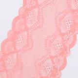 Lacet élastique de garniture de lacet français rose