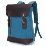 Colore dell'azzurro del tessuto della tela di canapa dello zaino dei sacchetti di banco dello zaino delle donne del computer portatile