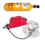 Equipamento de combate a incêndio Dispositivo Eebd 2,2 L./3L com cilindro de fibra de carbono