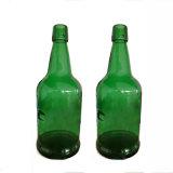 深緑色熱い販売500ml旧式な緑のブドウのワイングラスのびん