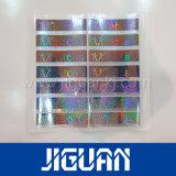 Étiquette de Anti-Contrefaçon d'hologramme de laser d'argent fait sur commande