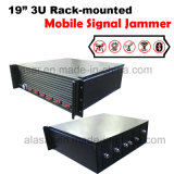 3U haute puissance Rack-Mounted mobile sans fil de la prison de la prison de signal brouilleur