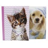 Glissade dans l'album photos attaché de soudure de couverture de papier d'imprimerie