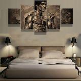 5 [بيس كنفس] يطبع [بروس] [ل] ملصقة نوع خيش يتمثّل صورة زيتيّة زخرفة بينيّة لأنّ يعيش غرفة جدار فنية زخرفة صورة
