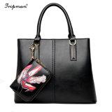 Entwerfer der Frauen Oberseite-Handhaben Handtasche PUfaux-Leder mit Mappe