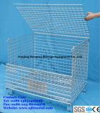 倉庫の記憶のためのFoldable及びスタック可能電流を通された金属線の網パレットケージ