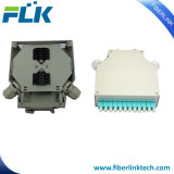 12/LC duplex trilho DIN de metal a junção de fibra óptica Terminal/gabinete/caixa de Terminação