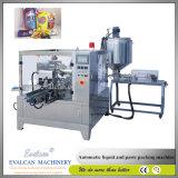 Remplissage de sac et machine rotatoires automatiques de garniture du joint pour le jus