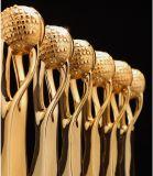 Высокое качество! Новые высокопроизводительные Crystal трофей творческий стиль земли полимера металлического трофей