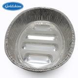 Ovales die Aluminiumfolie-Türkei-Tellersegment T7555