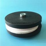 Резиновый Coated N35 магнит бака Dia x 6mm толщиной «2 Поляк» неодимия 31mm с продетым нитку стержнем