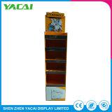 Peso ligero en el interior de papel de cosméticos el soporte de suelo para rack de pantalla