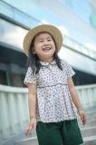 100% algodão manga curta roupas infantis para meninas