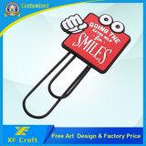 승진 또는 광고를 위한 어떤 로고 디자인을%s 가진 싼 주문을 받아서 만들어진 PVC 고무 서표 클립 (XF-BM10-)