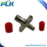 DIN de metal para fibra óptica ST Adaptador híbrido para redes