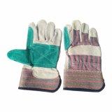Double Palm croûte de cuir de vache de la sécurité industrielle des gants de travail