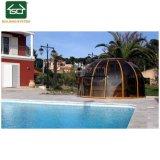 Piscine thermale Boîtier avec toit escamotable