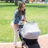 Dossel da tampa de assento do carro do bebê e tampa dos cuidados