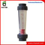 Medidor de fluxo plástico do flutuador do Rotameter do PVC