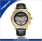 Pantalla Estuche de acero inoxidable 316L Movimiento de cuarzo cristal de zafiro reloj de pulsera