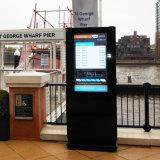Индикация напольный рекламировать LCD торгового центра выполненная на заказ