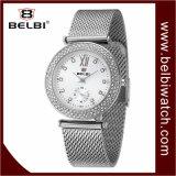 Wristwatch повелительницы Сетно-аналогов кварца роскошной нержавеющей стали Belbi водоустойчивый