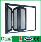 Binnenlands de bi-Vouwen van het Aluminium Venster met Gelamineerd Glas
