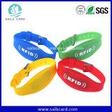 Bracelet intelligent de Nfc de silicones d'IDENTIFICATION RF imperméable à l'eau de bracelet
