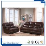 Meubles convertibles réglés de Chesterfield de sofa de sofa en cuir classique de cuir