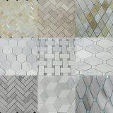 台所のための白または灰色またはベージュまたは黒いまたはブラウンの大理石の平板かタイルまたは階段またはカウンタートップか壁または床または浴室