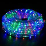 """Cuerda de navidad de 150 pies de espesor de 1/2"""" Pre-Assembled Multi-Color LED RGB de la cuerda de luces con 10' 25' 50', 100' - Vacaciones de Navidad Decoración Esg10433"""