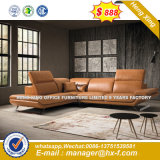 Italia clásica de madera de diseño de mobiliario de oficina oficina de cuero sofá (HX-SN8087)