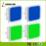 침실 화장실 복도를 위한 새로운 0.3 W 녹색 파랑 LED 전구 운동 측정기 밤 빛