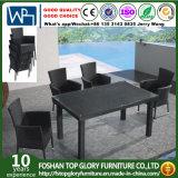 Patio 5-Piece carré dinant le Tableau en osier réglé et quatre présidences Tg-Jw930 de meubles de jardin