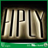 LED 뒤 Lit 채널 편지 리버스 스테인리스 편지 주문 광고 달무리 Lit 채널 편지