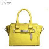 Женская сумка из натуральной кожи Top-Handle женщин сумки для девочек управление леди