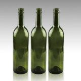 750mlねじ上の深緑色のボルドーのワイングラスのびん
