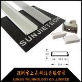 Perfil de alumínio LED plana para luz de LED com 20mm de largura