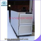 Refrigerador de cadáver com freezer mortuary para 2 corpos