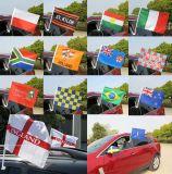 Дешевый изготовленный на заказ флаг окна автомобиля с пластичным Поляк
