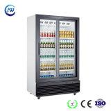Refrigerador vertical de la bebida del colmado de la puerta de cristal doble (LG-1000SP)